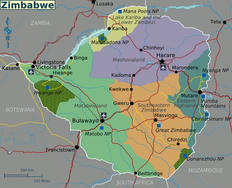 Maps Of Zimbabwe