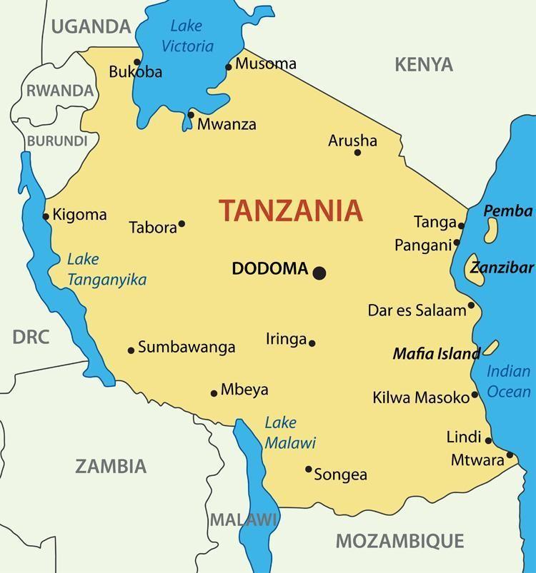 Maps of Tanzania